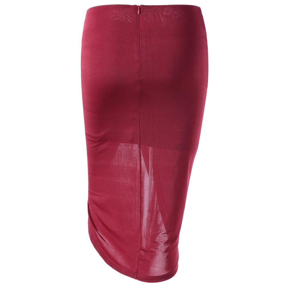 Fashionable Fitted Symmetry High Rise Skirt For Women