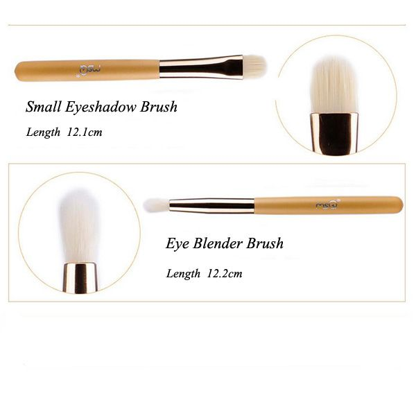 Stylish 5 Pcs Artificial Fiber Face Eye Makeup Brushes Set with Storage Package