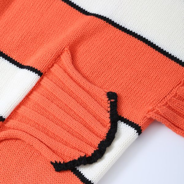 Stripe Cartoon Knitted Clownfish Blanket and Throws For Kids