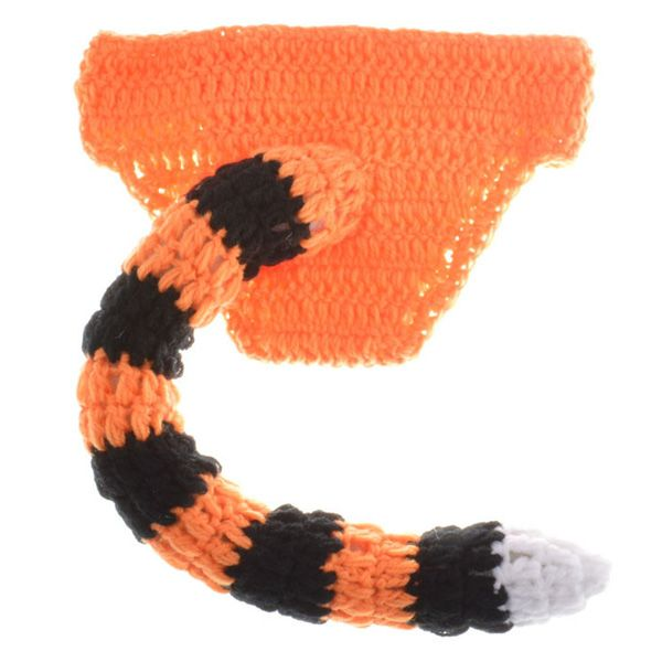 Hot Sale Woolen Yarn Knitted Tiger Shape Photography Clothes Set For Baby