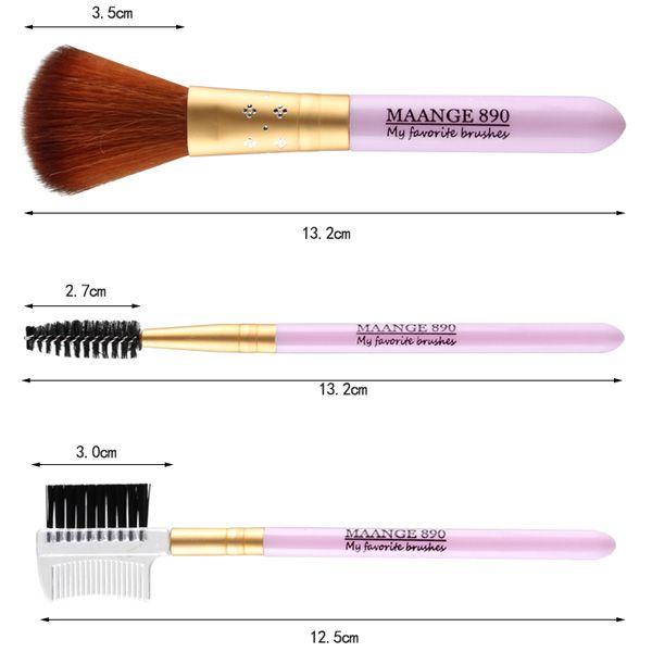 7 Pcs Nylon Facial Eye Lip Makeup Brushes Set