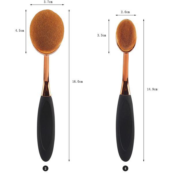 5 Pcs Toothbrush Shape Nylon Makeup Brushes Set