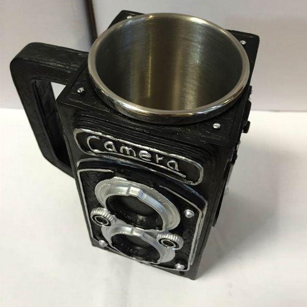 300ML High Quality Resin Retro Camera Stainless Steel Single Layer Export Mug