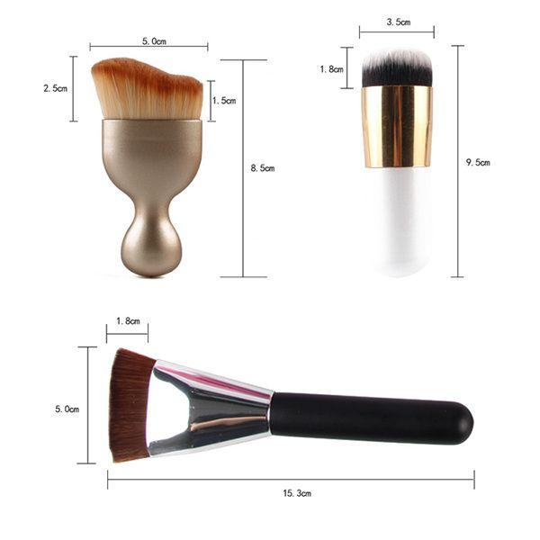 8 Pcs Dual-Use Dry and Wet Makeup Sponge + S-Shape Blush Brush + Foundation Brush + Contour Brush