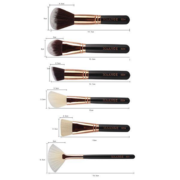 15 Pcs Nylon Face Eye Lip Makeup Brush Set