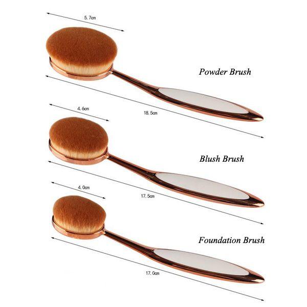 10 Pcs Toothbrush Shape Nylon Face Eye Lip Makeup Brush Set