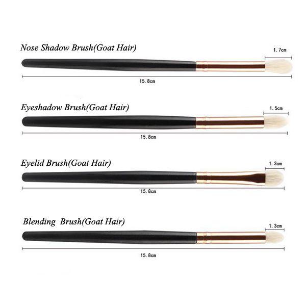 12 Pcs Goat Hair Eye Makeup Brush Set