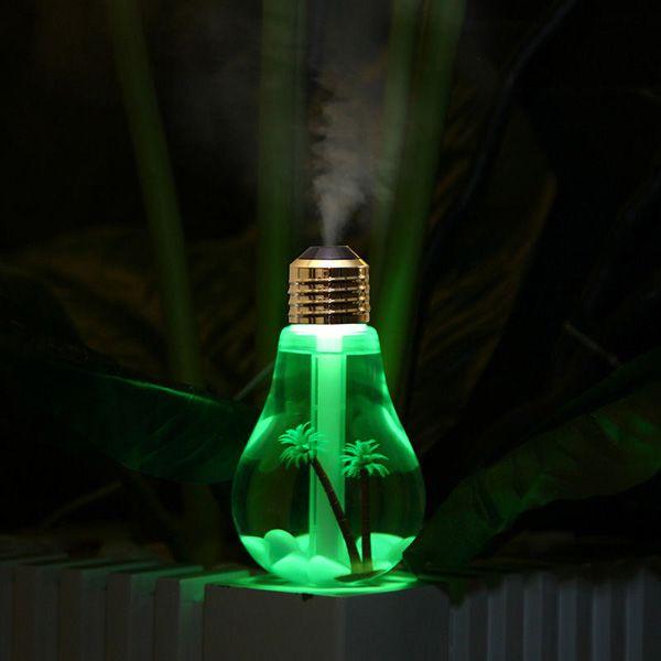 Multi-Color Mute Mini Bulb Shape USB Micro Landscape Fogger Humidifier