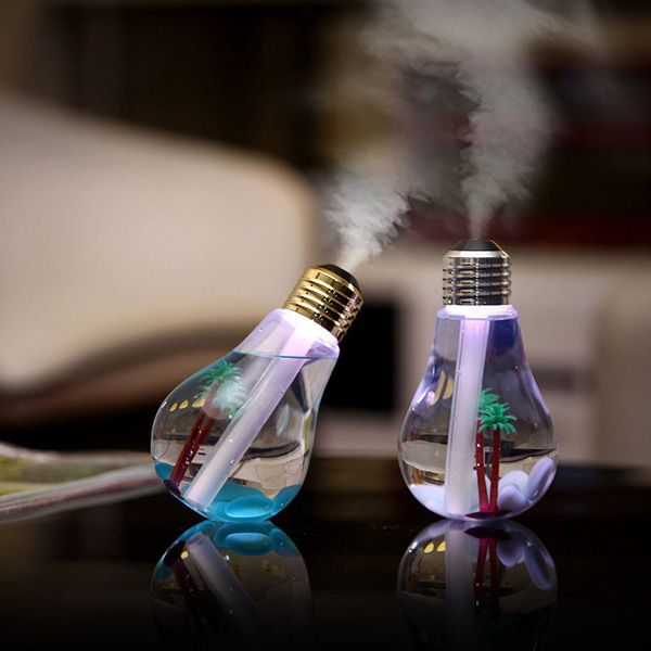 Multi-Color Mute Mini Bulb Shape USB Micro Landscape Fogger Humidifier