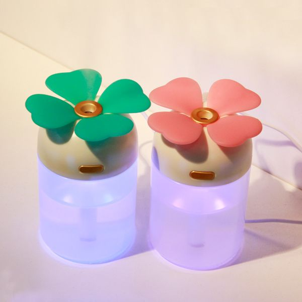 Lucky Grass Air Purifier USB Colorful Night-Light Humidifier