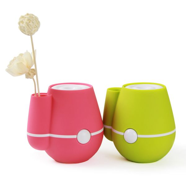 Mini Vase Design Car USB Ultrasonic Air Purifier Humidifier