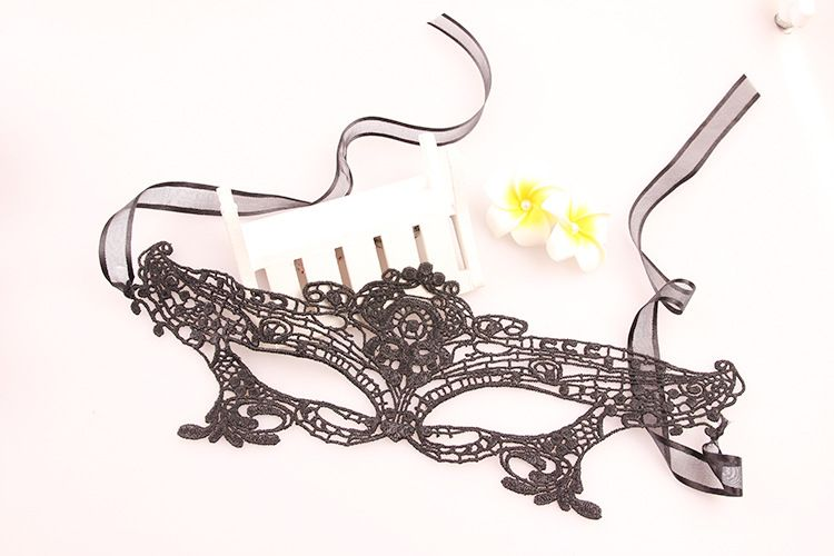 Upper Half Face Goddess Black Lace Carnival Masquerade Hollow Out Masks