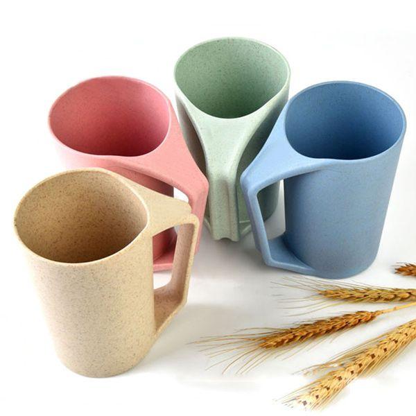 450ml Wheat Straw Food Grage Home Office Mug