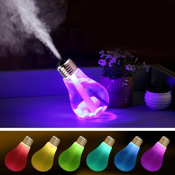 Creative USB Portable 7 Colors Change Bulb Design Humidifier