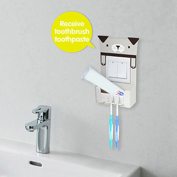 Creative Multipurpose Cartoon Animal Pattern Toothbrush Holder