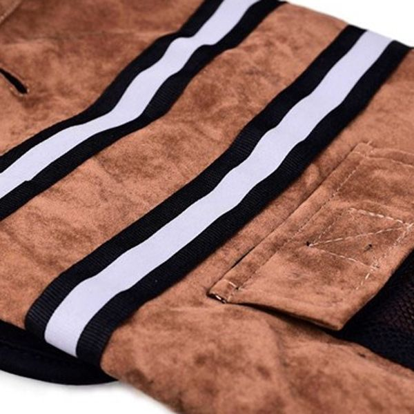 Reflective Stripe Jacket Cape Winter Warm Puppy Clothes