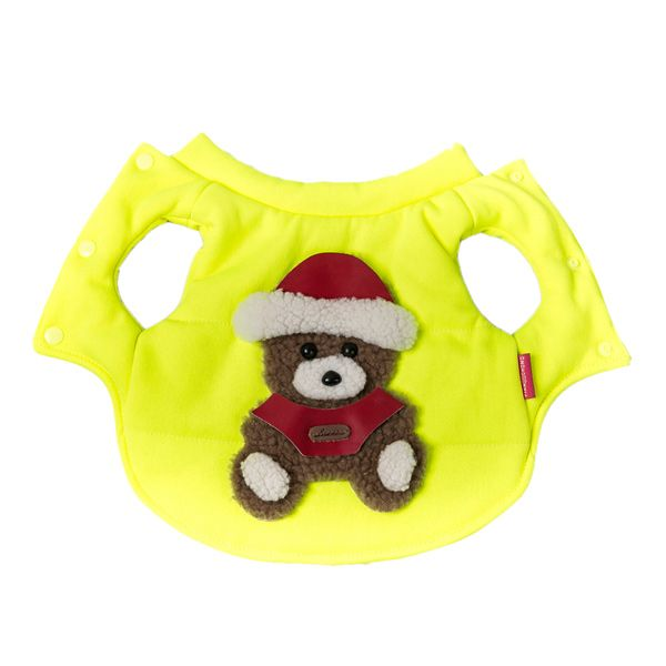 Soft Nap Fluorescent Little Bear Jacket Winter Warm Christmas Puppy Clothes