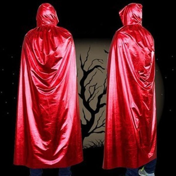 Fancy Dress Hooded Cloak Cosplay Wicca Halloween Costume Supply