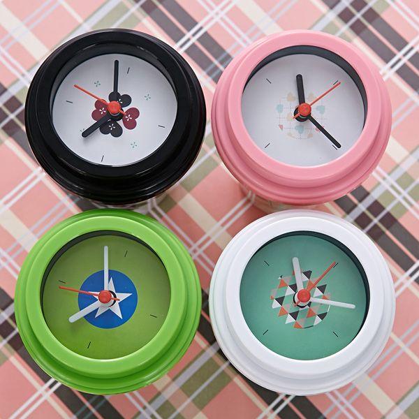 Home Decoration Environmental Star Printed Mug Shape Clock
