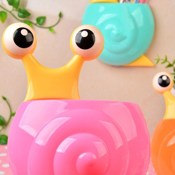 Multifunctional Cartoon Snail Wall Sucker Novelty Storage Box