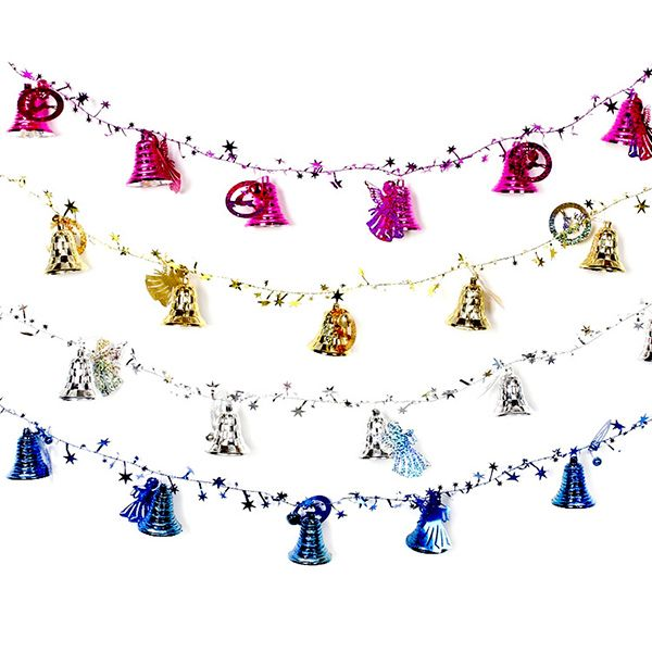 Christmas Festival Party Supplies Bells Rattan Decoration