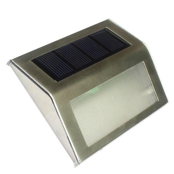 3 LED Solar Garden Lights Outdoor Decorative Waterproof Courtyard Wall Lamp