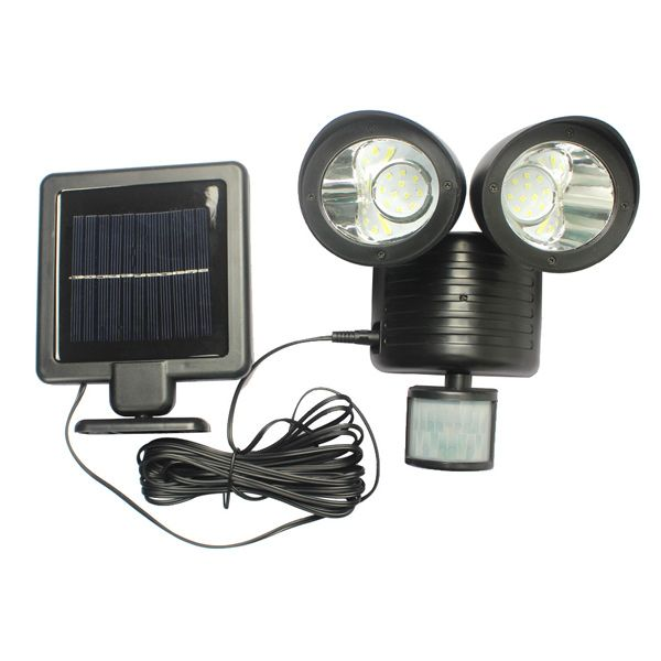 LED Solar Garden Lights Outdoor Decorative Waterproof Induction Double Wall Lamp