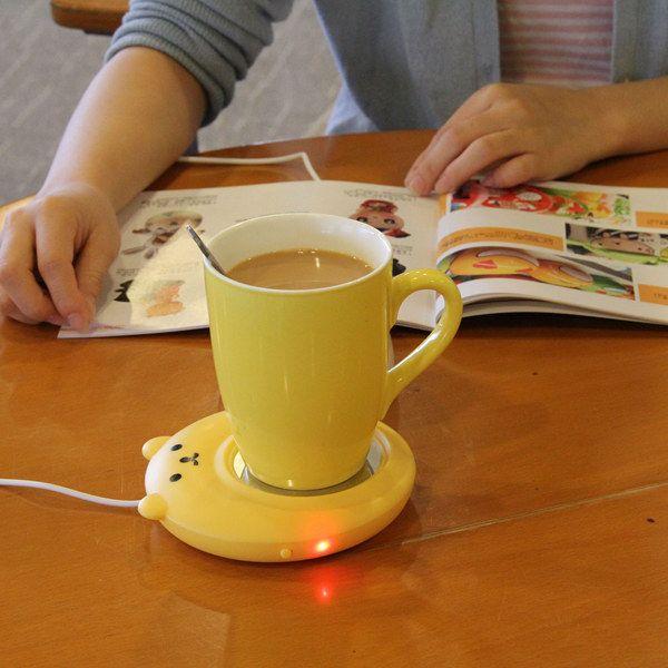 USB Insulation Mini Cartoon Little Bear Heat Preservation Plate