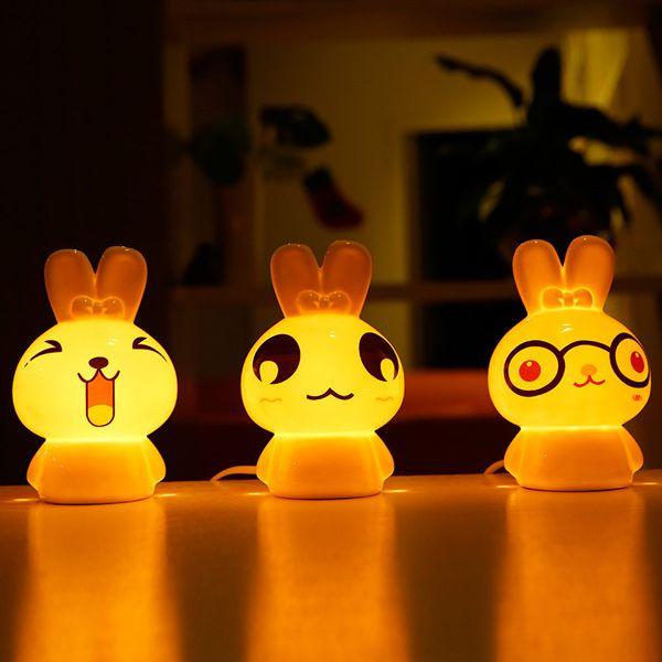 Essential Oil Drive Midge Purify Air Cartoon Ceramic TinTin Rabbit Night Light