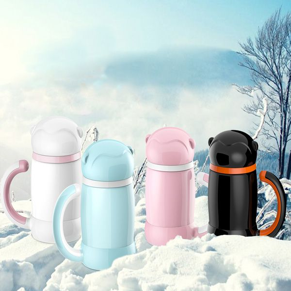 High Quality 400ML Heat Preservation Cartoon Water Bottle