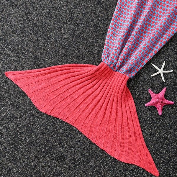 Comfortable Polka Dot Sleeping Bag Kids Wrap Sofa Mermaid Blanket