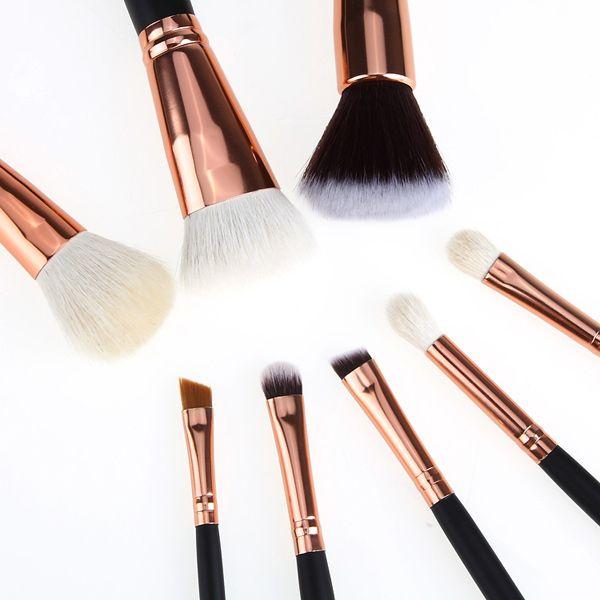 8 Pcs Goat Hair Face Eye Makeup Brushes Kit
