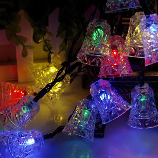 Solar Power Bell LED String Light Christmas Decoration Supplies