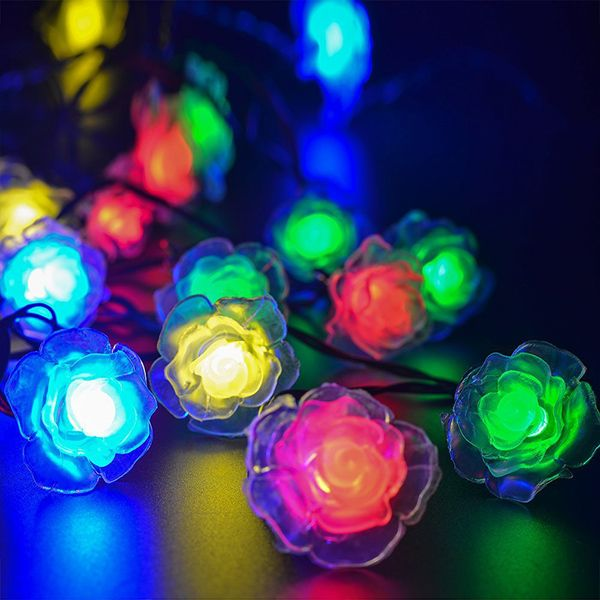 4.8M Solar Power Floral LED String Light Christmas Decoration