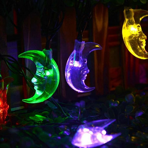 Christmas Decoration 4.8M Solar Power Moon LED String Light