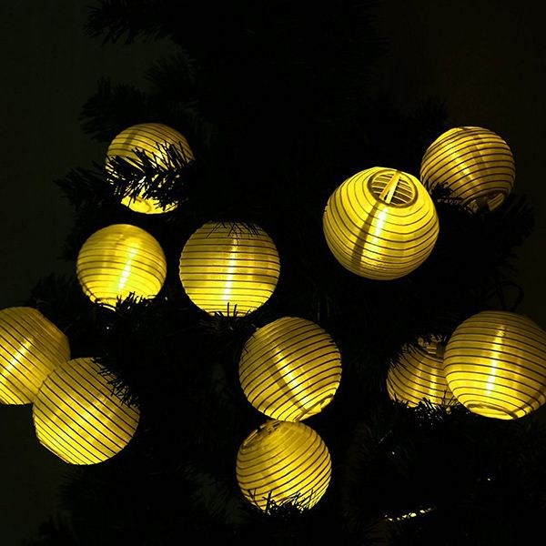 Solar Power LED Lantern String Light Christmas Decoration