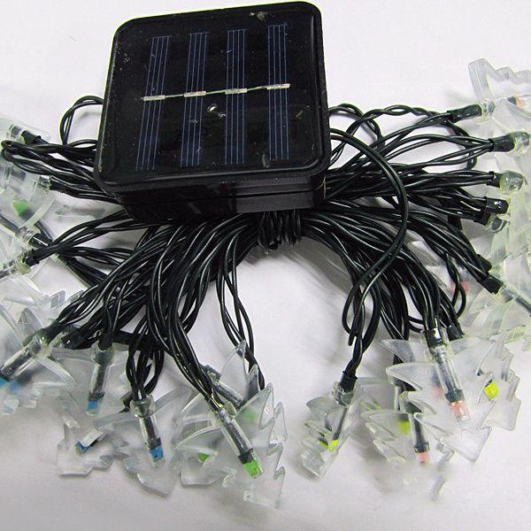 4.8M Solar Power Christmas Tree LED String Light Decoration