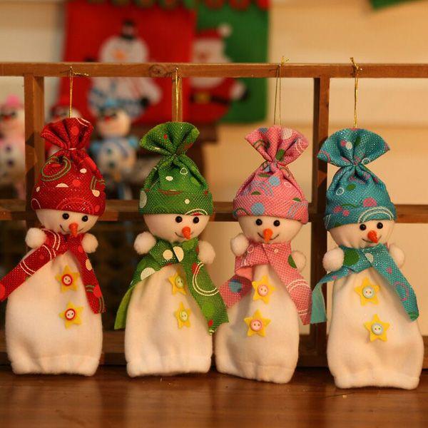 Christmas Ornament Supplies Snowman Pendant Apple Candy Bag