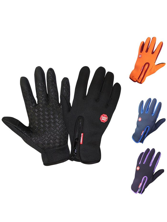 Touch Screen Full Finger Windproof Skidproof Cycling Gloves