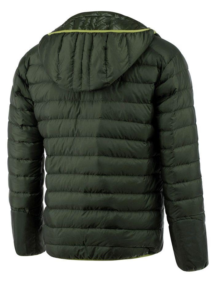 Color Spliced Zipper-Up Hooded Down Jacket ODM Designer