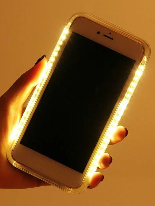 Selfie LED Flashlight Luminous Phone Cover For iPhone