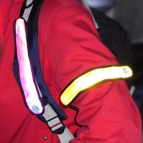 Safety Reflective Light Shine Flash Glowing Luminous Armband LED Ankle Band