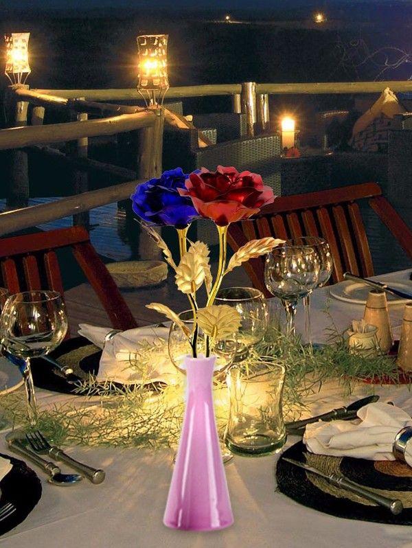 1PCS Gold Plated Rose Flower Birthday Gift