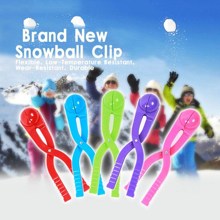 1 PCS PE Snowball Clip 7cm Diameter Spoon