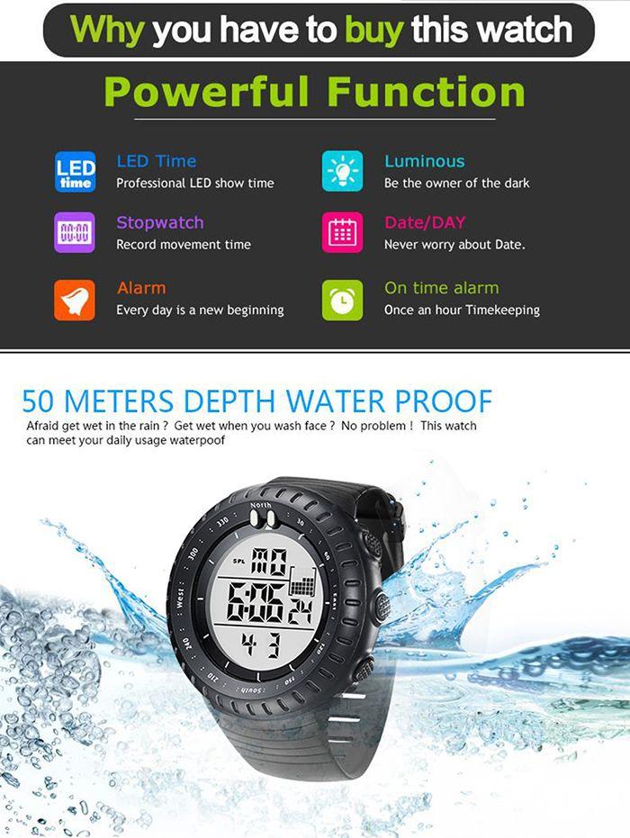 GIMTO Waterproof Sports Digital Watch