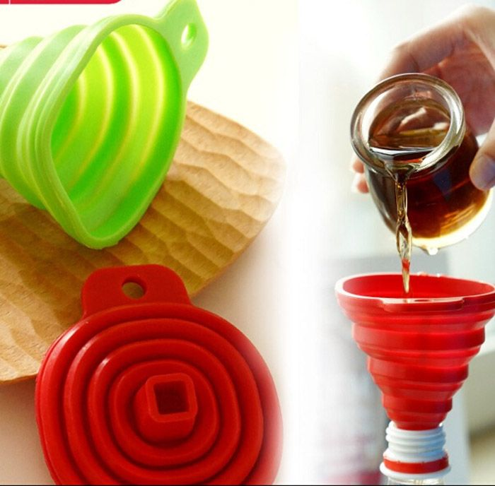 Silicone Folding Scalable Long Neck Funnel