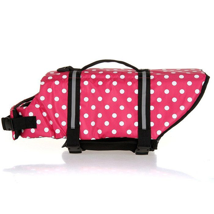 Mutlifunctional Polka Dot Pets Swimwear Dog Safety Clothing Swimsuit