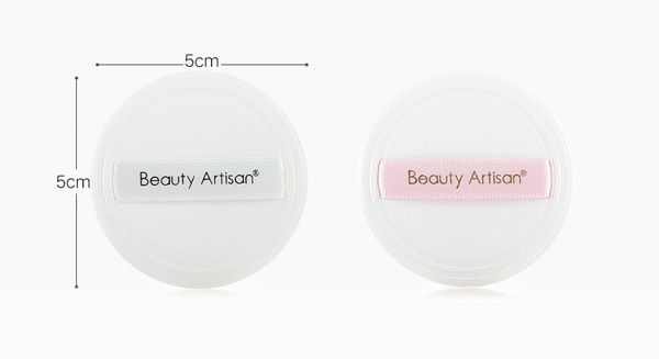 Round Facial Pressed Powder Puffs