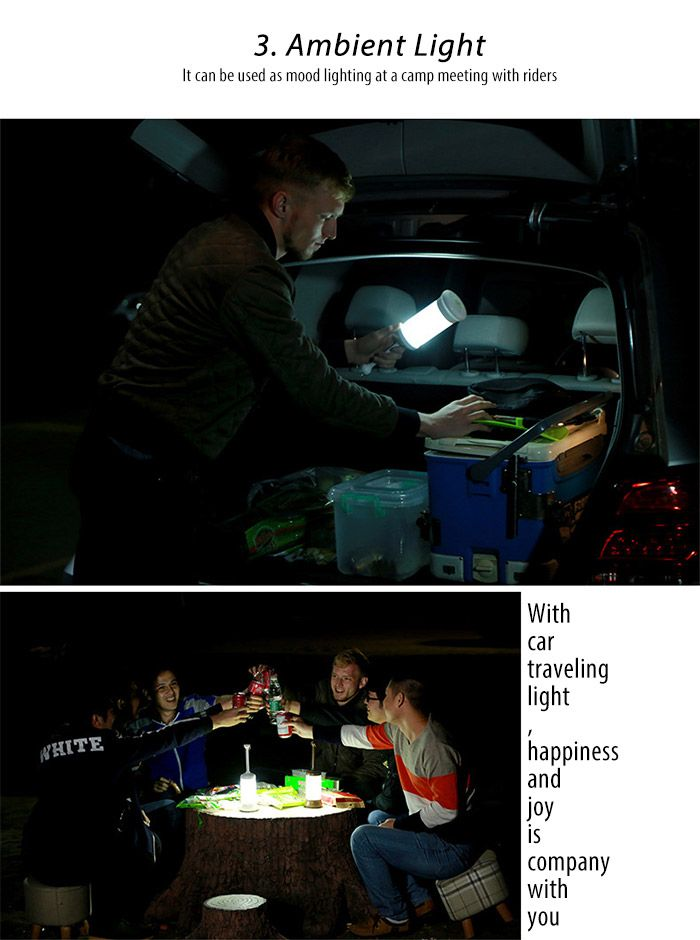 Outdoor USB Rechargeable Telescopic Lamp LED Night Light