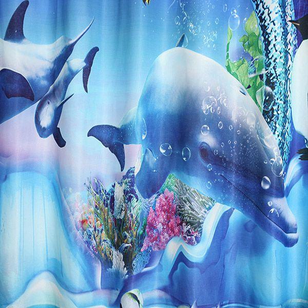 Sea World Punching Screening Blackout Curtain